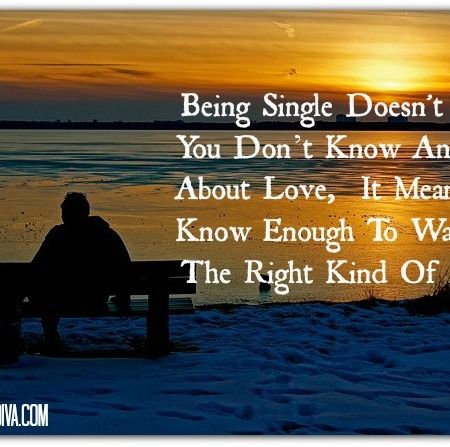 single means knowing love