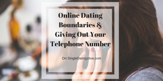 Giving your number online dating danger