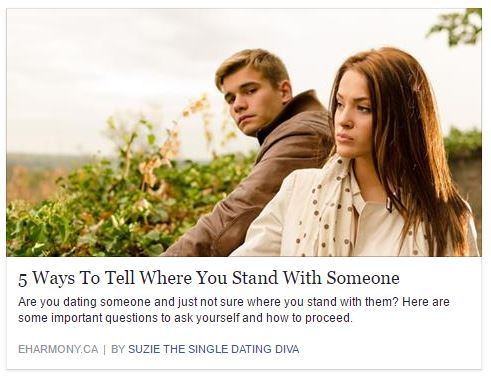 Ever Wonder Where You Stand With Someone?