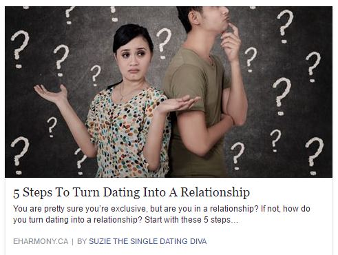 How dating turns into a relationship-in-Otaki